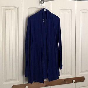 Calvin Klein royal blue open cardigan, size XXL